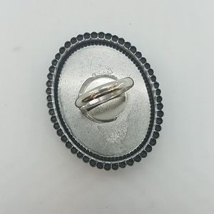 GASOLINE GLAMOUR Jewelry - Snowflake obsidian cocktail ring sample